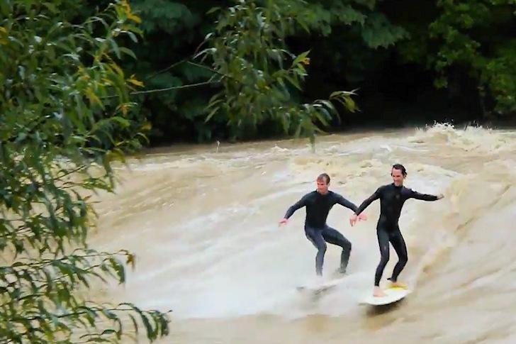 Inundaciones que se surfean