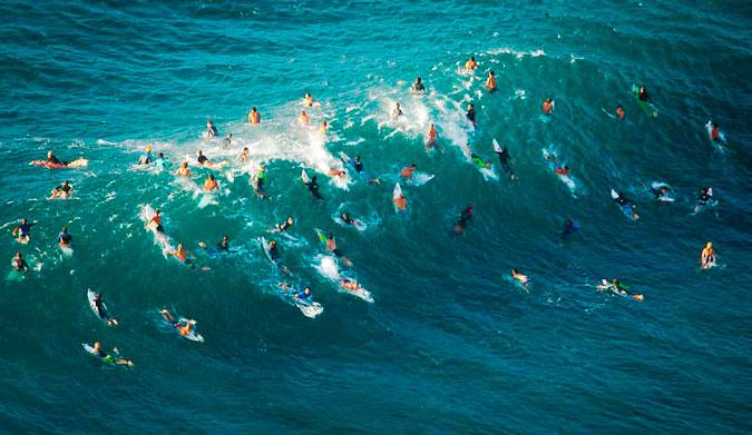 Razones que mejoran el Surf en multitud