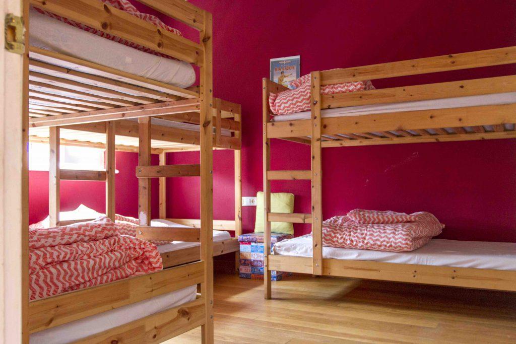 Habitaciones de 6 a  8 personas