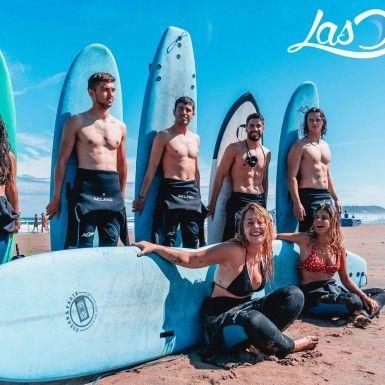Grupo de surf reducido.