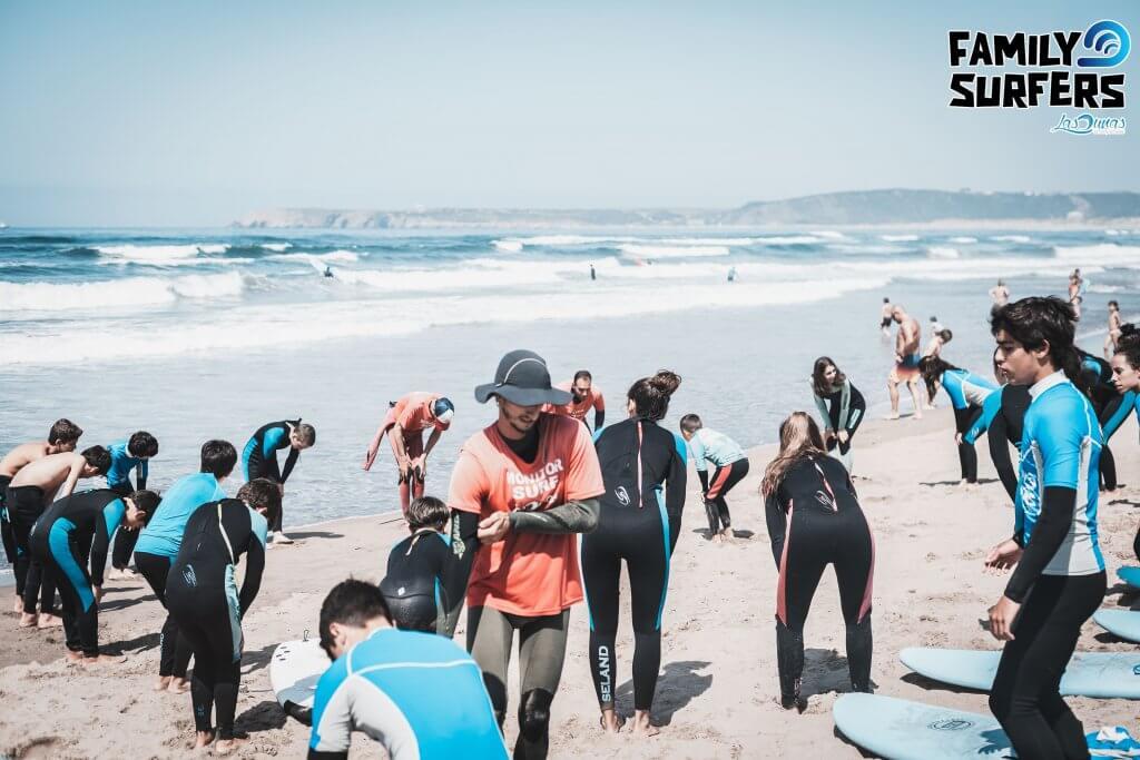Surfcamp Asturias, Escuela de surf Las Dunas, Family Surfers