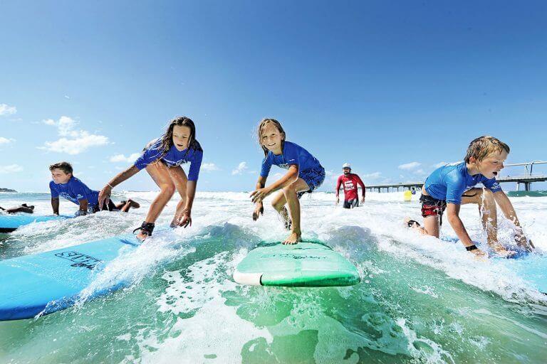 El surf para niños